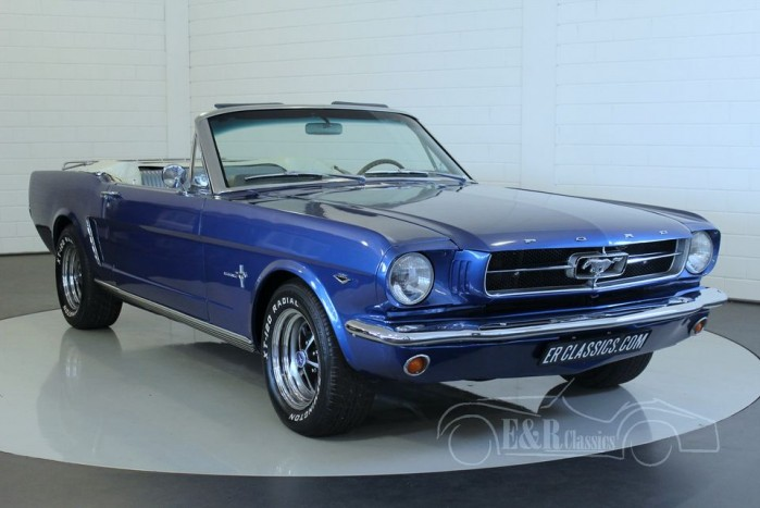 ford mustang cabriolet 1965 te koop bij erclassics. Black Bedroom Furniture Sets. Home Design Ideas